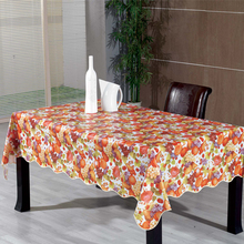 PVC Plastic flannel back tablecloth roll factory