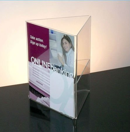 custom restaurant clear acrylic plastic menu card holder