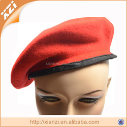 Pure color can customized security guard hats beret