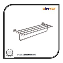 High quality Modern stainless steel Wall Mounted Bathroom accessory Lavatory towel rail towel rack