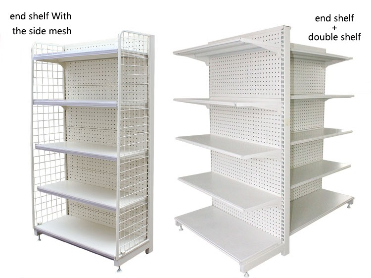 Vertical Type rack and shelf with plastic shelf edge label holder