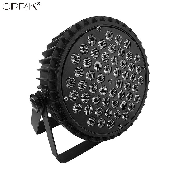 54 3W RGBW Aluminum LED Flat Par Can Light Silent Operation Stage Lighting