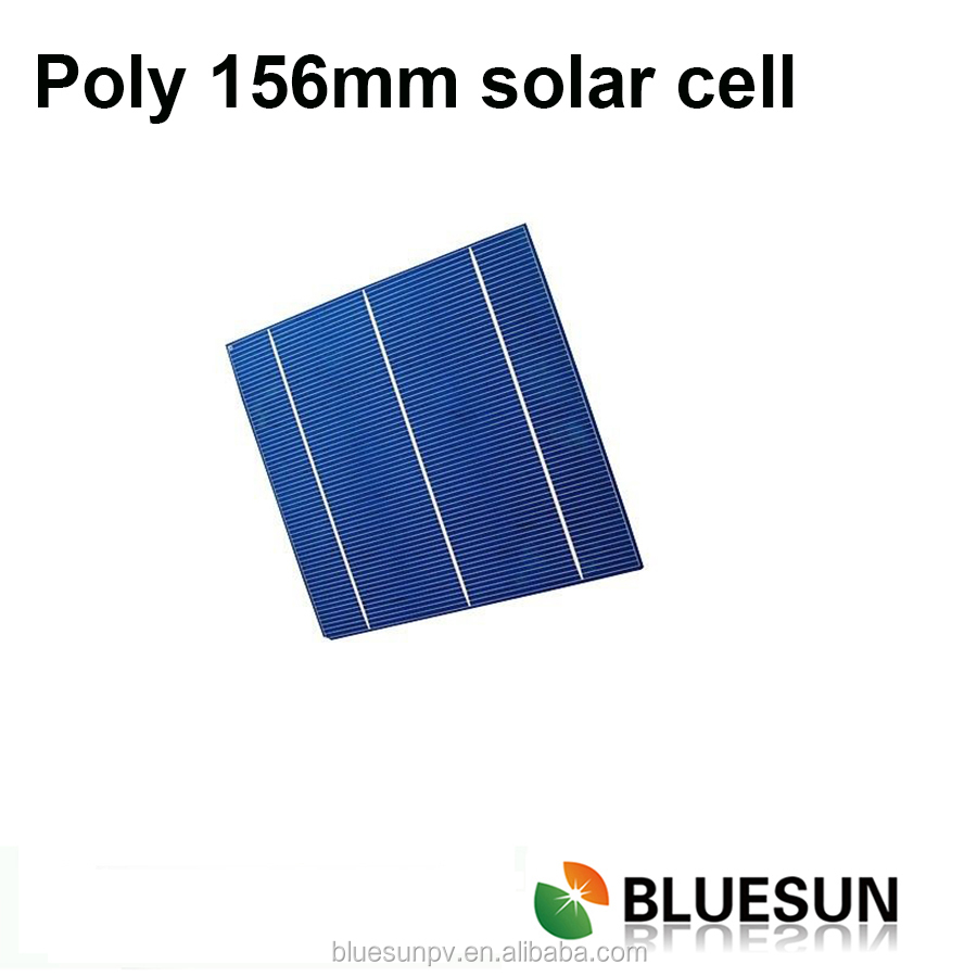 Bluesun supply A grade cell 4.33w polycrystalline 156mm solar cell test equipment