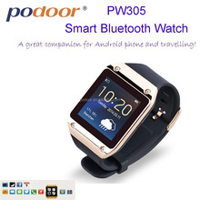 Aibaba Best Selling 2014 lastest colorful bluetooth Smart Watch for Android phone smart watch PW305 with phone call ,music