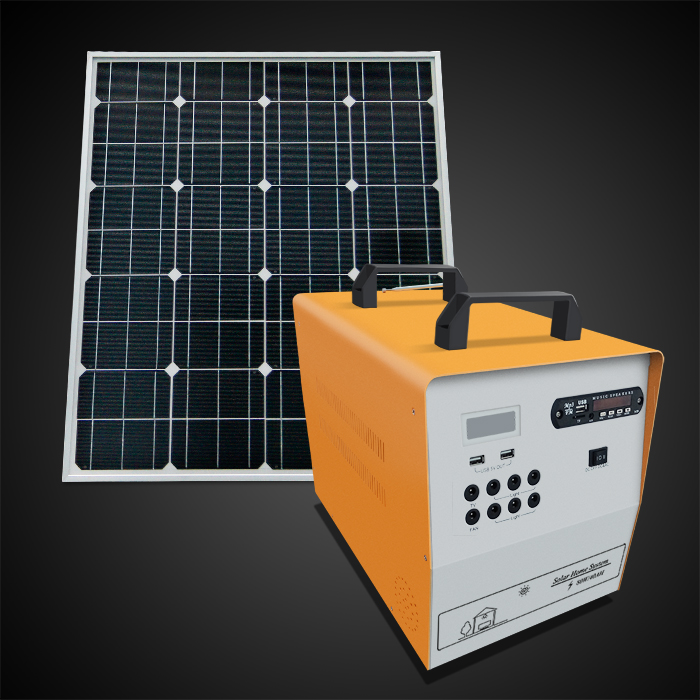 80W LCD display Solar power home system for household