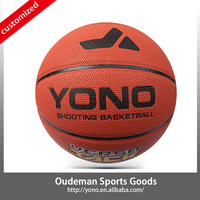 2015 New design Durable high school pu material basketball