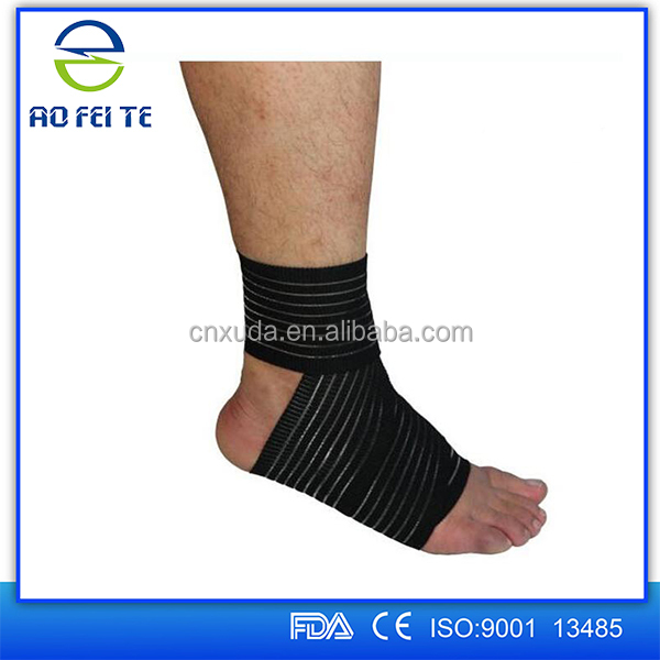 Medical Sports Ankle Foot Elastic Compression Wrap Sleeve Bandage Brace Support