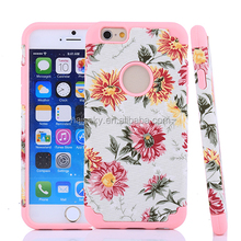 Silicon + PC Paste pattern protective case for iphone 6/6 plus