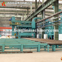 Free shiping Roller conveyor type paving stone shot blasting machine for sand blasting equipment