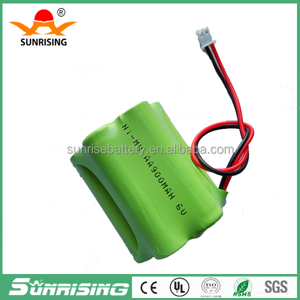 Low price ni-mh aa rechargeable battery 6v AA900mAh 6.0v nimh rechargeable battery pack aa battery pack