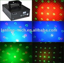 New 250mW LED RG twinkling laser bubble light