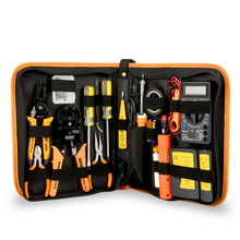 Wholesale hand tool set mechanic repairing kit tool box set with network tester
