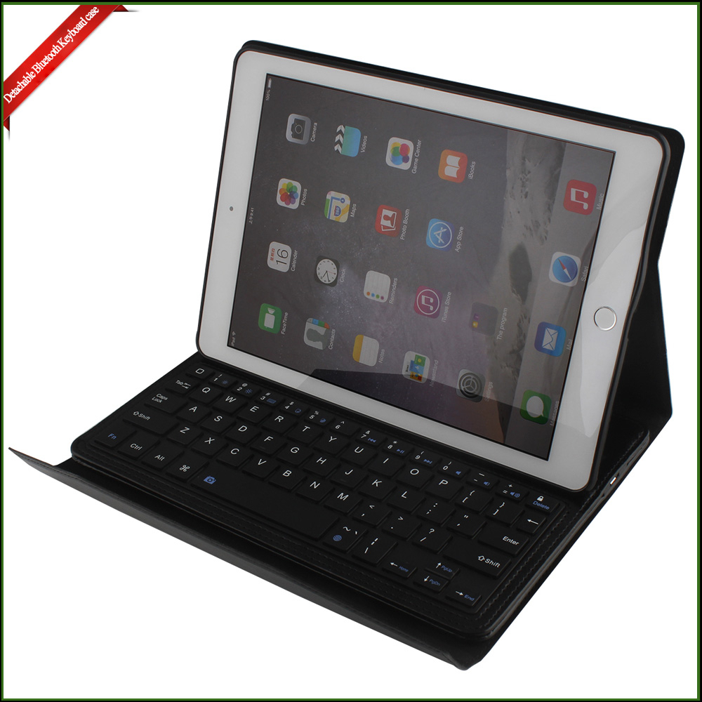 Folding PU leather Bluetooth Keyboard case, Mini Foldable Bluetooth Keyboard for ipad