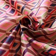 Transfer printed 3D diamond type pattern PU coated wholesale polyester oxford fabric