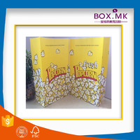 2016 New Design Fashion Yellow Kraft Paper Grocery Bag