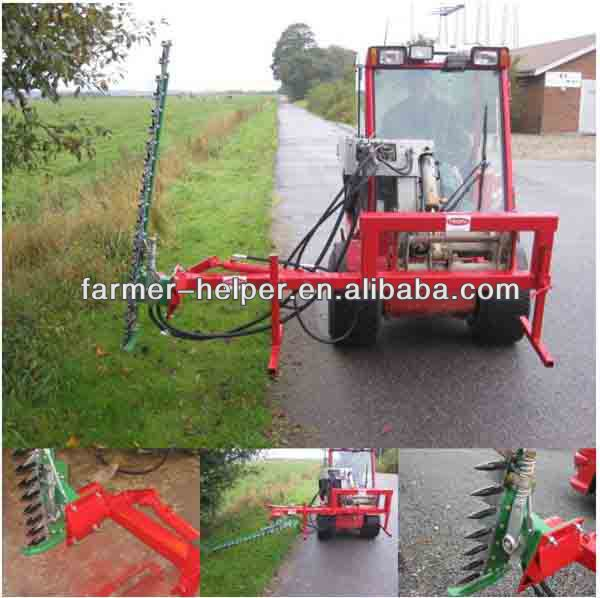 tractor mounted long lasting hedge trimmer verg mower