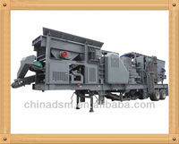 Hot in Africa Mobile Crushing Sieving Machine Group, Lignitic Coal Mobile Crushing Plant