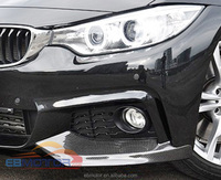 P Style Real Carbon Front Bumper LIP Splitters SPOILER For BMW F32 M Tech Bumper Only 1pair B232