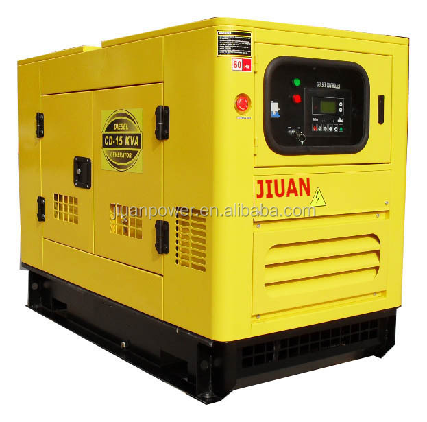 Guangzhou Factory for Sale Price 12kw 15kVA Silent Electric Power Diesel Generator 15 kva 3 phase generator