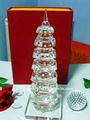 Exquisite crystal tower model,glass towel model ,crystal craft