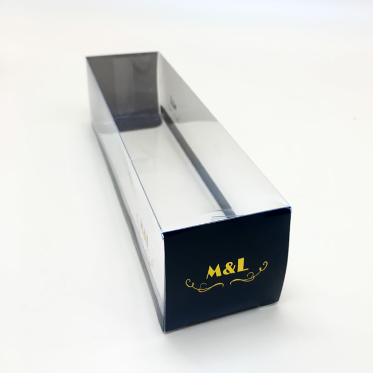 Custom design transparent foldable plastic box clear plastic packaging box