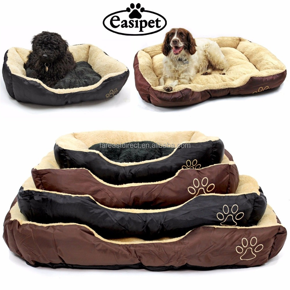Dog Bed Faux Fur Fleece Washable Deluxe Cushion Pet Bed S M L XL