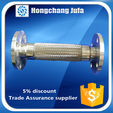 300 series stainless steel flange and bellows exhaust pipe flex metal hose