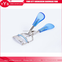 Hot new products for 2016 bule stainless steel tweezers private label professional eyelash curler