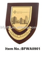 Plaque Wood base&Metal plate:BFWA0901