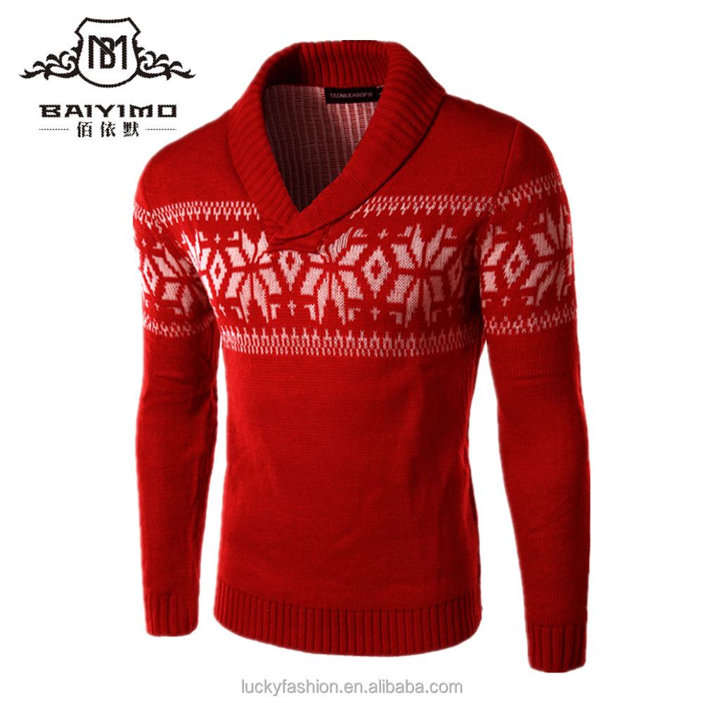 Custom Men's Ugly Christmas Sweater For Wholesale