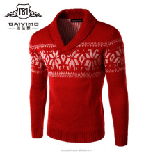 Wholesale China Fashion V-Neck Custom Men's Cotton Knits Ugly Red Sweaters for Christmas