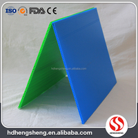 Qingdao manufacture customize color polypropylene corrugated plastic sheet 5mm thick