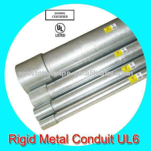 hot dip galvanized rigid metal pipe with ul standard