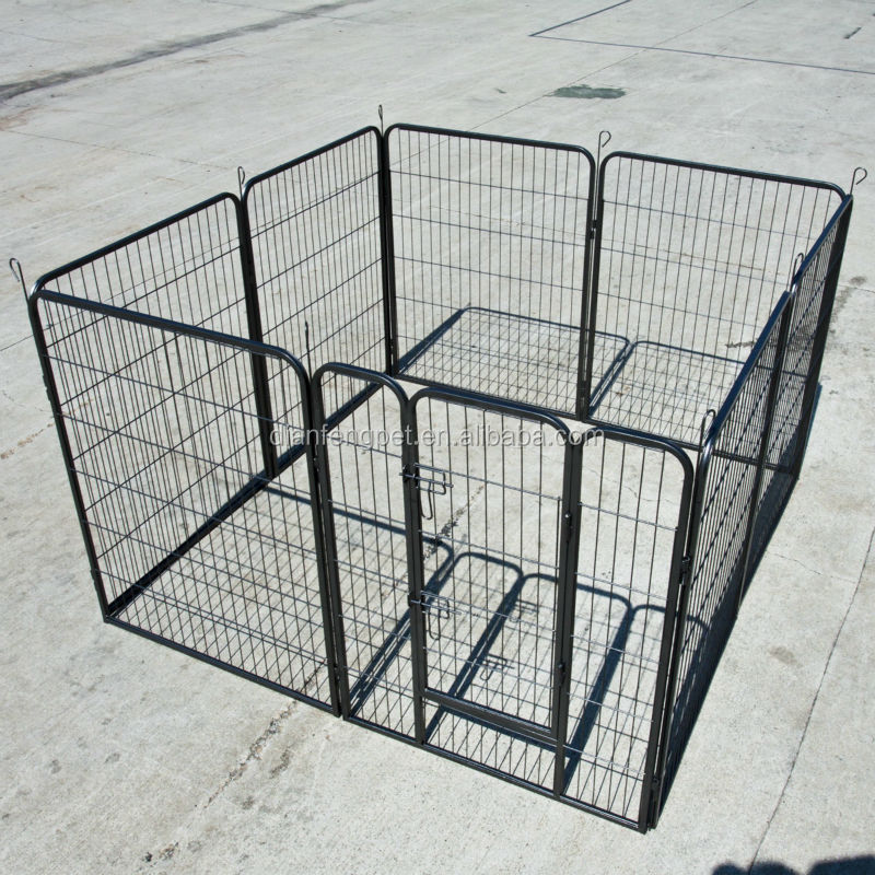8 panel large steel iron heavy duty pet playpen
