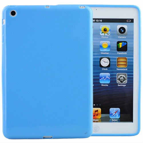 IMPRUE For Ipad MINI Solid Soft TPU Case 8Colors Blue colors