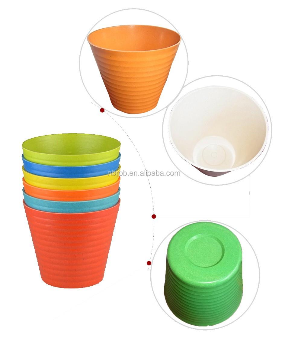 indoor bamboo fiber colors flower pot cheap plastic flower. Black Bedroom Furniture Sets. Home Design Ideas