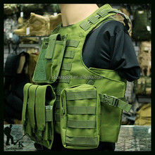 Durable impermeable de la alta calidad tamaño ajustable army tactical combat chaleco