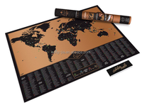 2017 Adventure black map scratch off world map