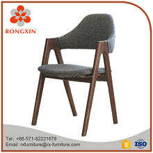 modern style dining room solid wood fabric arm chair