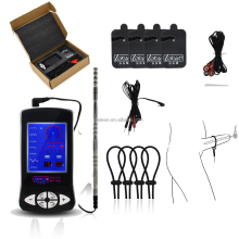 Electric Sex toy kit Adjustable Penis Rings Electric urethral Plug electro massage patch.