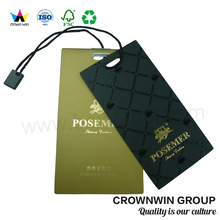 Crown Win New Design Custom Printing Luxury Clothing Hang Tag