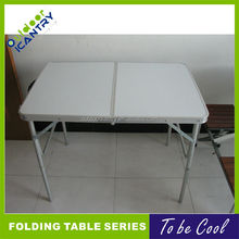 Outdoor short folding picnic table