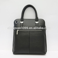 New Litchi Grain Briefcase ,Men's Black Genuine Leather Business bags