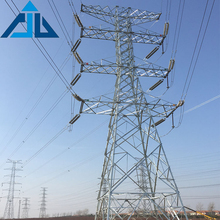 110kV Angular Electric Power Transmission Line Steel Tower Lattice Tower