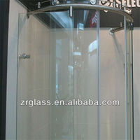 Tempered glass shower wall panels