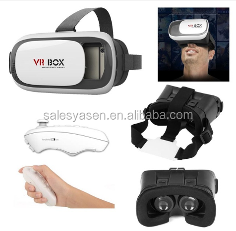 "Virtual Reality VR BOX 2.0 3d vr glasses Video Movie Game for 3.5"" - 6.0"" Smart Phone with a remote(Optional)"