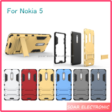 [Soar]Best Quality Shockproof Kickstand TPU PC Case For Nokia 5 Case Back Cover