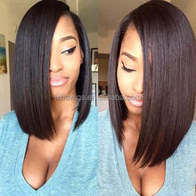 Dyeable and bleachable 100% raw lace front wigs human hair brazilian bob