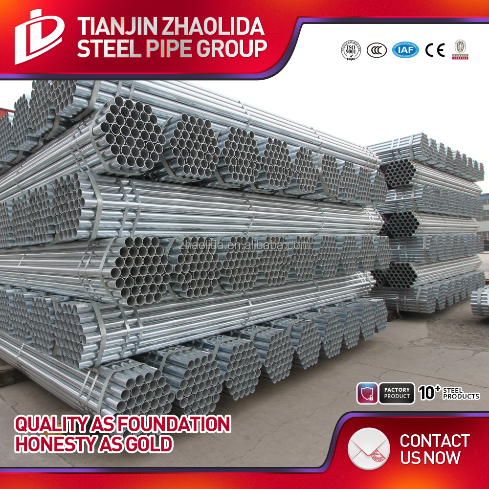 hot dip galvanized scaffolding welded carbon steel pipe price production line