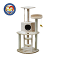 Aimigou sisal cat house with ladder cat tree with cat toys